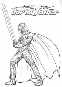 Disegno da colorare Darth Vader (2)