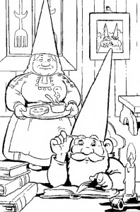 coloring page David the gnome (1)