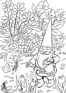 David vattnar växterna