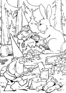 David coloring page hard at work