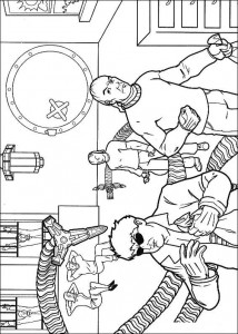 coloring page The bad guys