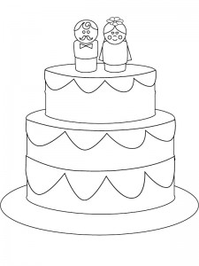 coloring page The wedding cake