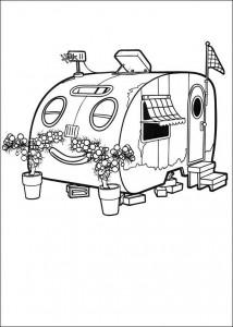målarbok Husvagnen sover