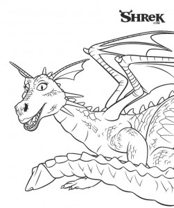 Coloriage Le Dragon (2)