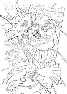 målarbok Draken