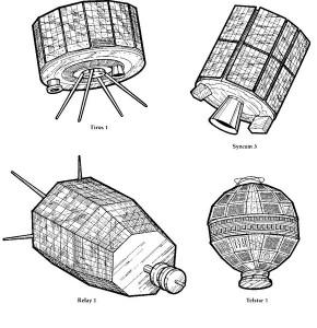 kleurplaat De eerste satelieten