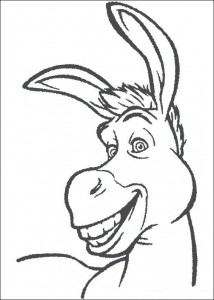 coloring page The donkey (1)
