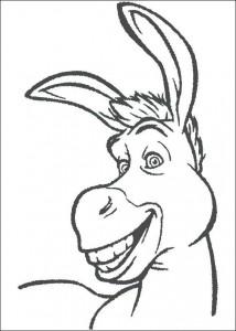 kleurplaat De ezel (1)
