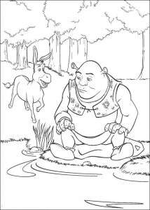 coloring page The donkey
