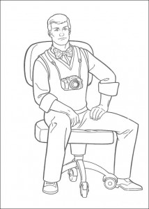 coloring page Fotografen til Daily Planet Jimmy