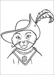 kleurplaat De gelaarsde kat (2)