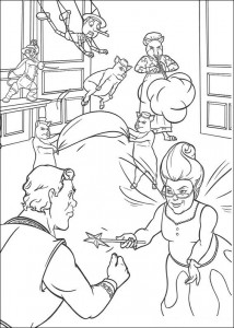 coloring page The good fairy (1)