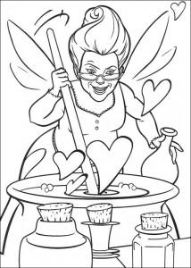σελίδα για ζωγραφική Η καλή νεράιδα (2)