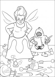 coloring page The good fairy (4)