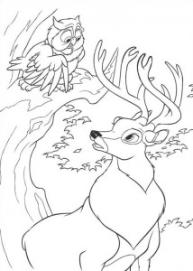 coloring page The Great Prince lytter til ugla
