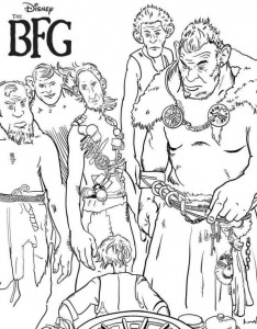 coloring page The big friendly giant GVR (3)