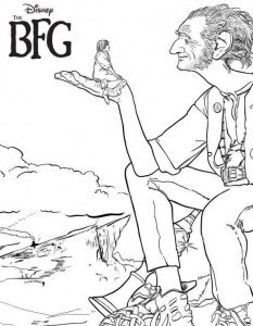 coloring page The big friendly giant GVR
