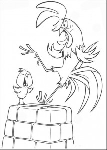 coloring page The rooster