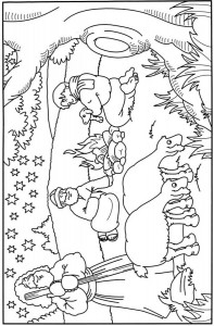 coloring page The shepherds lay by nights