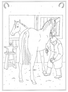 coloring page The farrier