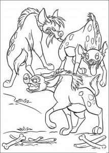 coloring page Hyenas (1)