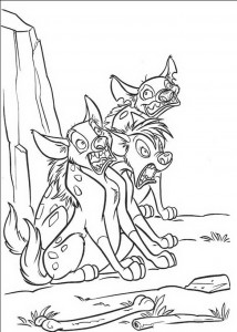 målarbok Hyena skrämmer
