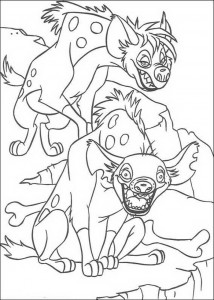 coloring page The hyenas