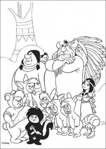 coloring page The Indians and the smart boys