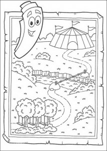 coloring page The card