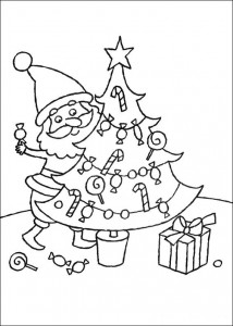 coloring page The Christmas tree