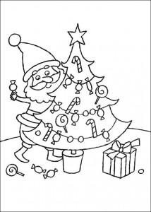 kleurplaat De kerstboom