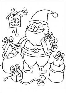 kleurplaat De kerstman (1)