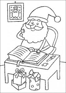 kleurplaat De kerstman (3)