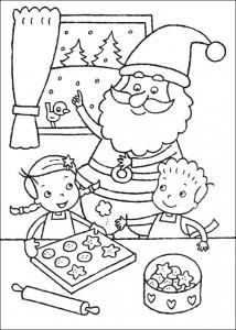 kleurplaat De kerstman (4)
