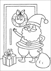 раскраска Санта Клаус (5)