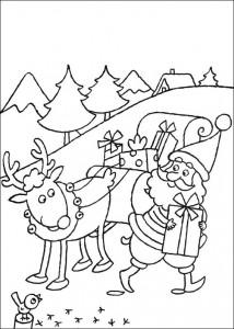 kleurplaat De kerstman