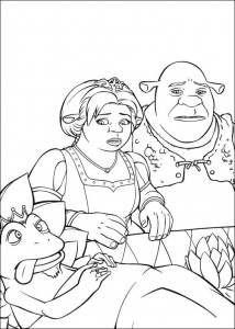 coloring page The frog prince dies