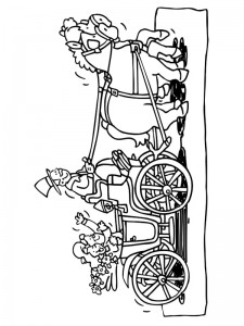 coloring page The carriage