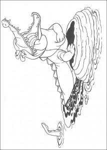 målarbok Krokodilen med väckarklockan