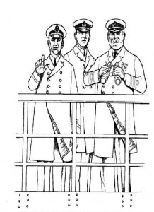 coloring page The officers, Captain Edwrad J. Smith