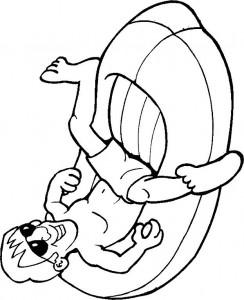 pagina da colorare Il gommone