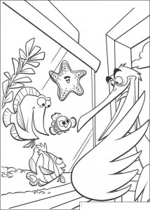 coloring page The pelican is back