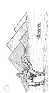 målarbok Gizeis pyramider