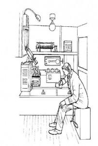 målarbok Radiooperatören skickar SOS