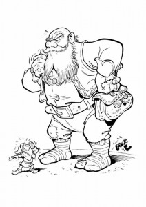 coloring page The giant