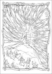 målarbok Röda havet ger plats för Moses
