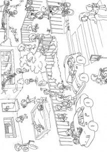 pagina da colorare La scuola