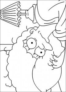 kleurplaat De Simpsons (1)