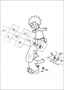 kleurplaat De Simpsons (12)