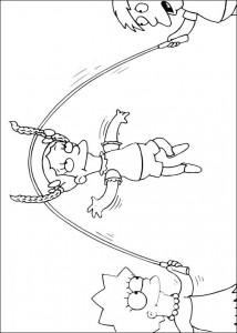 kleurplaat De Simpsons (13)